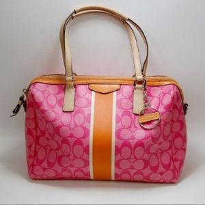Coach Rare Pink & Orange satchel